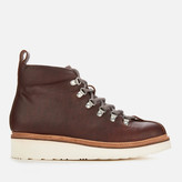 Grenson Men's Bobby Oily Pull Up Grained Leather Hiking Style Boots - Brown