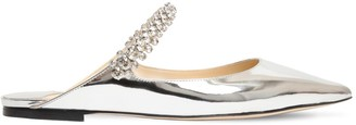 Jimmy Choo 10mm Bing Metallic Patent Leather Mules