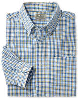 L.L. Bean Seersucker Shirt, Long-Sleeve Tattersall