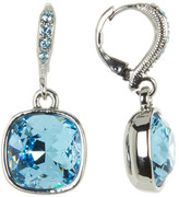 Givenchy Swarovski Crystal Accented Cushion Drop Earrings