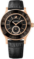 Swarovski Women's Swiss Octea Classica Black Leather Strap Watch 39mm 1181762
