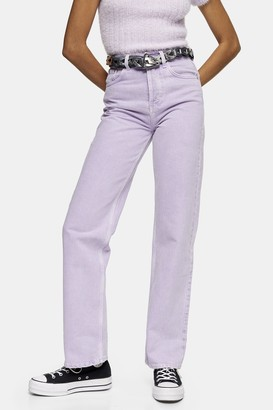 Topshop Womens Lilac 90S Straight Jeans - Lilac