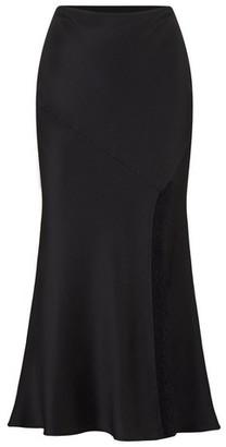 Dorothy Perkins Womens Girls On Film Black Lace Midi Skirt, Black