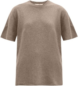 Extreme Cashmere No. 64 Stretch-cashmere T-shirt - Mid Brown