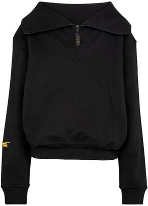 Reebok x Victoria Beckham Logo cotton-jersey sweatshirt