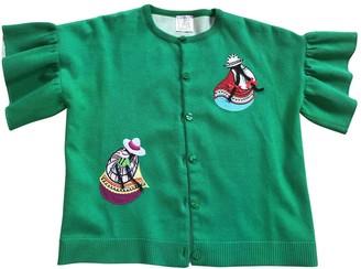 Stella Jean Green Cotton Knitwear