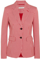 Altuzarra Fenice Gingham Cotton-blend Twill Blazer - Red