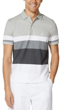 Nautica Men's Colorblocked Cotton Jersey Polo