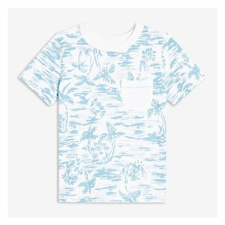 Joe Fresh Toddler Boys' Print Pocket Tee, Light Blue (Size 3)