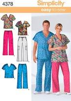 Simplicity Sewing Pattern 4378 Miss/Men Scrubs, BB (Medium - Large - X-Large)