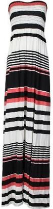 GirlsWalk Women's Skull Leopard Aztec Stripe Printed Sheering Maxi Dress - - 12-14