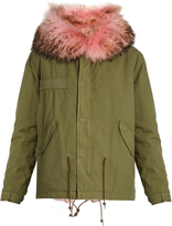 MR & MRS ITALY Fur-lined canvas short parka