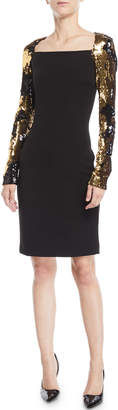 Naeem Khan Nk32 Sequin Long-Sleeve Dress