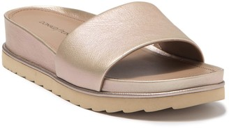 Donald J Pliner Cava Metallic Suede Sandal - Narrow Width Available