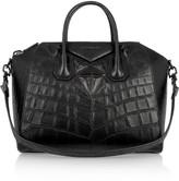 Givenchy Medium Antigona bag in black crocodile-style leather