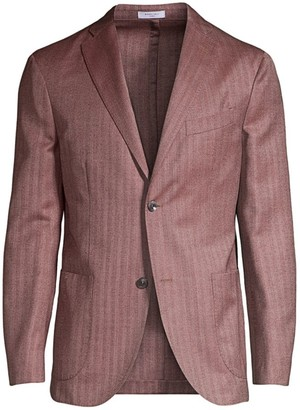 Boglioli Herringbone Virgin Wool & Silk Jacket