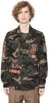 Valentino Camo Cotton Drill Field Jacket W/Patches