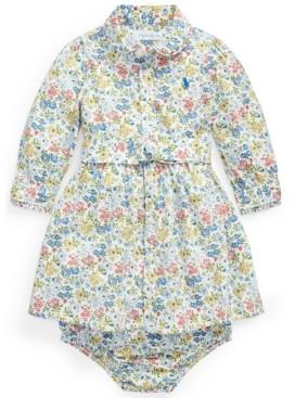 Polo Ralph Lauren Ralph Lauren Baby Girls Floral Shirtdress Belt and Bloomer