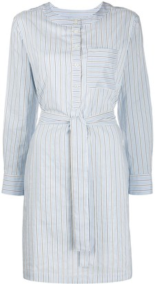 A.P.C. Tie-Waist Pinstriped Shirtdress
