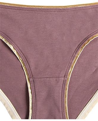 Forever 21 Metallic Trim Panty