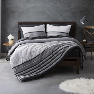 Sean John Knit Stripe Jersey Duvet Cover Set