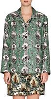 Burberry X Barneys New York Women's Wallpaper-Print Pajama Top-GREEN