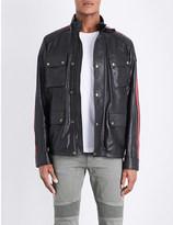 Belstaff Daytona racing-stripe leather jacket