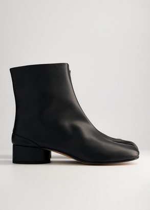 Maison Margiela Women's Low Tabi Boot in Black, Size 35 | Calfskin Leather