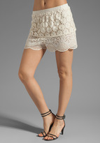 Anna Sui Bohemian Eyelet Embroidered Short