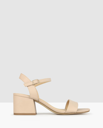 betts Women's Pink Heeled Sandals - Camilla Block Heel Sandals - Size One Size, 5 at The Iconic