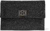 Anya Hindmarch Valorie glittered leather clutch