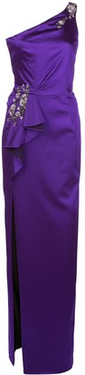Marchesa embellished one shouldered evening dress