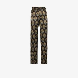 Bode Silk Jacquard Trousers