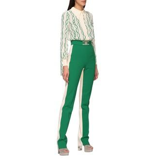 Elisabetta Franchi Celyn B. Elisabetta Franchi Jumpsuits Two-tone Elisabetta Franchi Suit With Chain Print