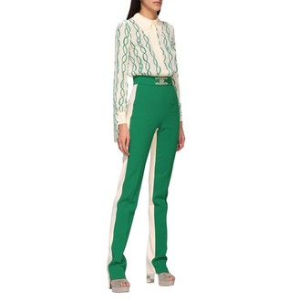 Elisabetta Franchi Jumpsuits Two-tone Suit With Chain Print