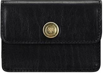 Maxwell Scott Bags Black Italian Leather Womens Business Card Holder