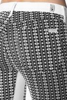 "7 For All Mankind The Pieced Skinny In Black Stripe Geo Jacquard (28"" Inseam)"