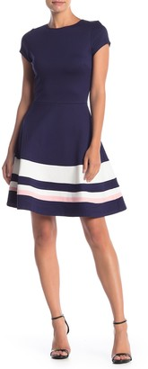 Love...Ady Short Sleeve Fit & Flare Dress