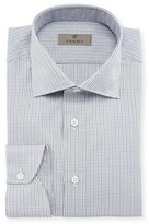 Canali Micro-Gingham Dress Shirt, Tan