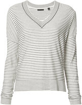 ATM Anthony Thomas Melillo striped V-neck jumper - women - Silk/Cashmere/Wool - S