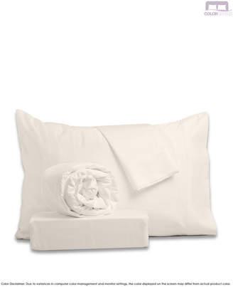 +Hotel by K-bros&Co Color Sense Hotel Style Sateen Sheet Set- Queen Bedding