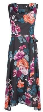 Dorothy Perkins Womens **Billie & Blossom Black Floral Print Midi Dress, Black
