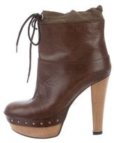 Marni Leather Platform Ankle Boots