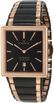 Edox Men's 27031 357RN NIR Les Bemonts Rectangular Ultra Slim Watch