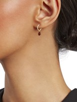 Saks Fifth Avenue 14K Yellow Gold & Ruby Huggie Earrings