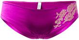 Carine Gilson mini shorty brief - women - Silk/Spandex/Elastane/Rayon/Polyamide - S