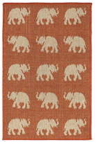 Liora Manné Terrace Elephants Indoor/Outdoor Rug
