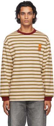 Carne Bollente Beige Stripe Keep It Up Long Sleeve T-Shirt