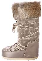 Moon Boot Fur-Trimmed Snow Boots
