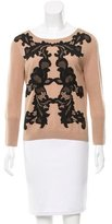 Diane von Furstenberg Shara Lace-Trimmed Sweater